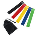 Home Crossfit 5 Sets 12'' by 2'' Loop Resistance Exercise Booty Elastic Bands