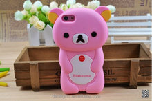 2015 hot sale lovely custom 3d animal silicone moblie phone case