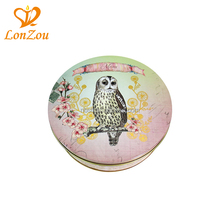 Seed tin box animal images new round small personalized spice tin box