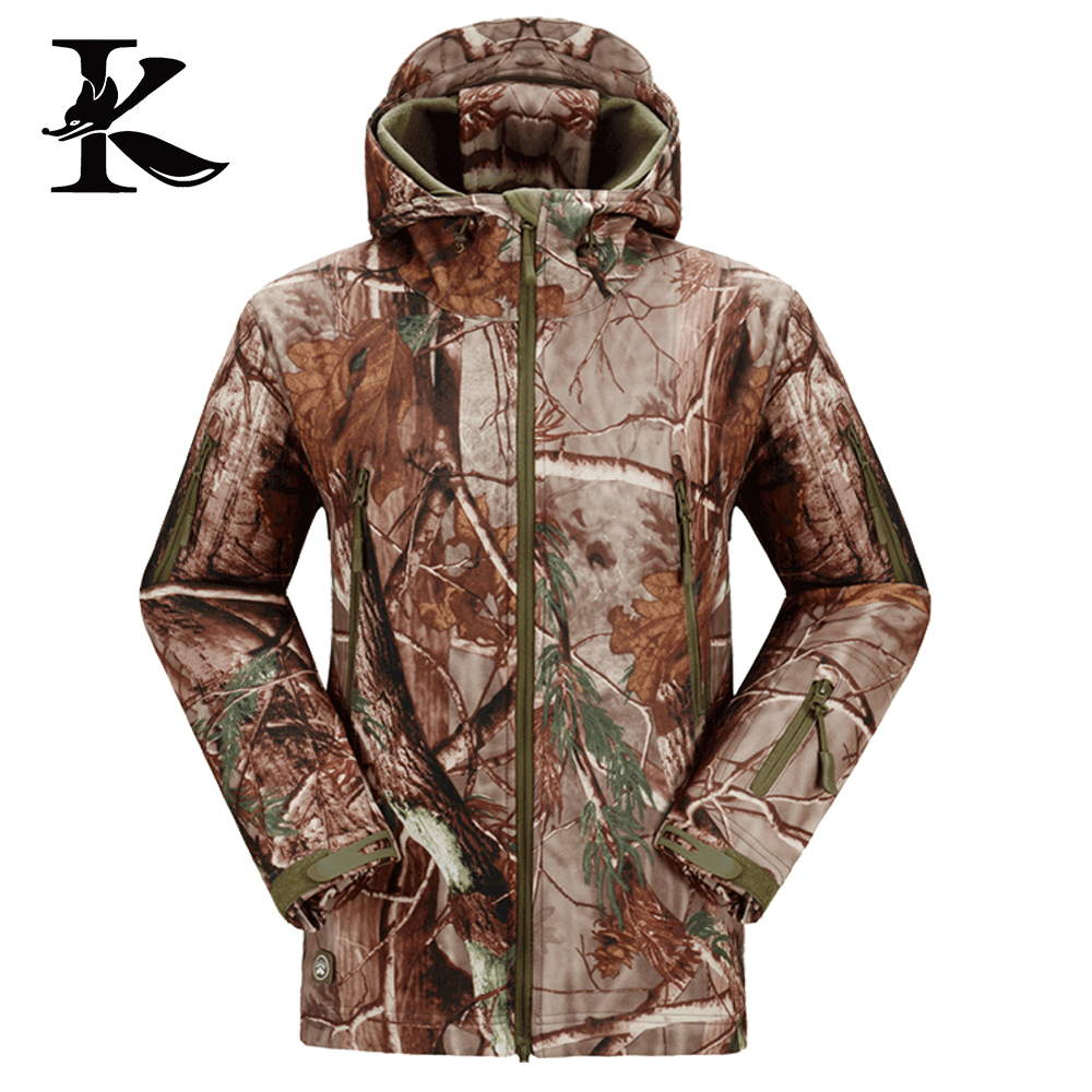 Forest Camo jacket, Waterproof Softshell Hunting Jacket, Breathable Fish Jacket