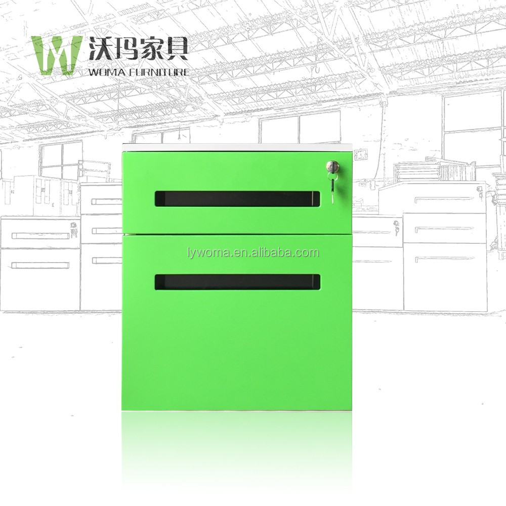 Luoyang Green color Office furniture steel 2 drawer filing cabinet storage with low price