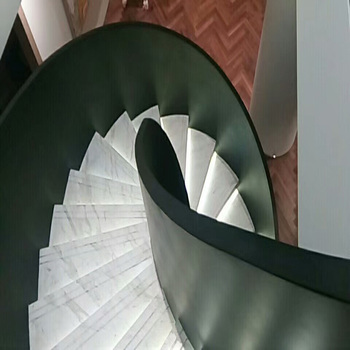 Hot Sell Glass Railing Curved Glass Staircase