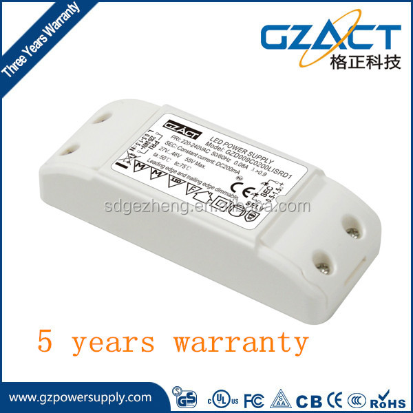 FIVE YEARS WARRANTY triac dimmable indoor driver constant current dimmer driver