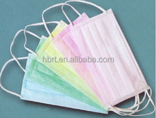 Sterile Nonwoven Disposable 3 layer Food Industry Earloop Face Mask