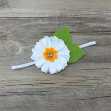 white flower headband for baby