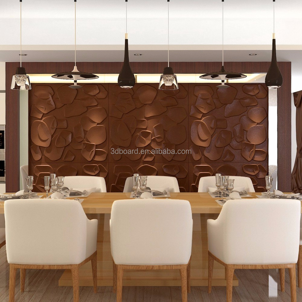 Durable Living Room Interior Decorative Vinyl Wallpanel Embossed 3D PVC White Wall Panel