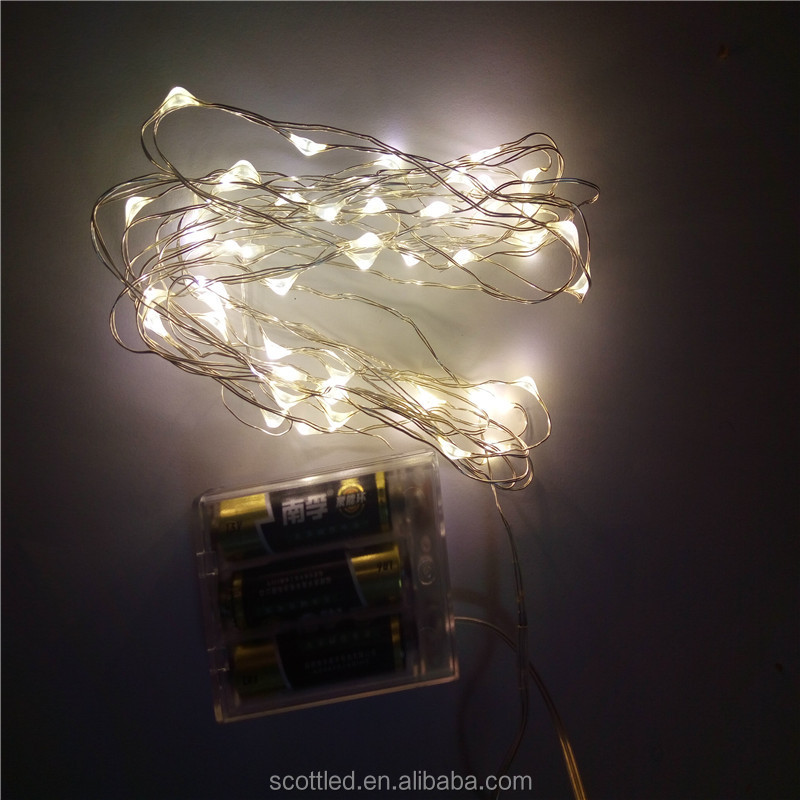 2M 20 led 3AA Battery Powered Decoration LED Copper Wire Fairy String Lights Lamps for Christmas