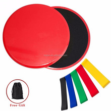 Gliding Discs Core Sliders and 5 Exercise Resistance Loop Bands