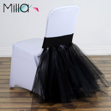 Spandex Chair Band with Skirting Chair Back Cover