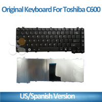 US RU UK FR GR SP BR PO HB Laptop keyboard for toshiba L600 C600 BLACK