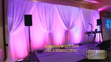 wedding pipe and chiffon drape for wedding decoration