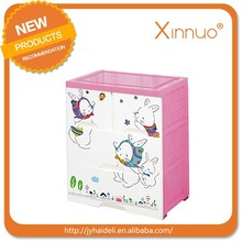 Lovely cartoon rabbit plastic storage cabinet drawers
