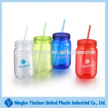 1000ml food grade plastic mug mason jar with lid for beverage and candy