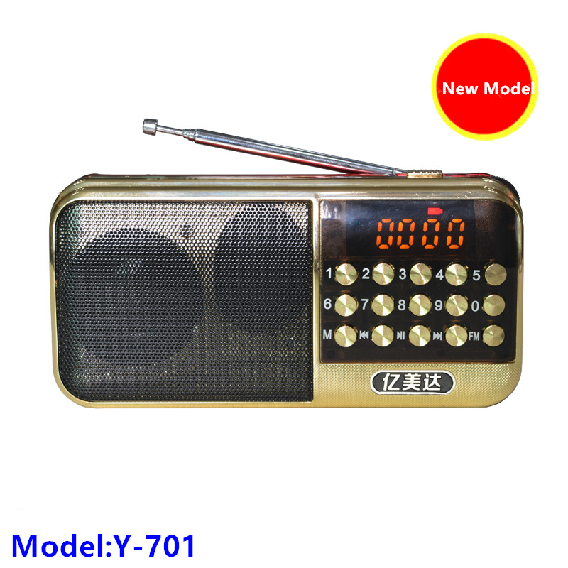 new arrival portable cheap 18650 fm radio with tf card slot