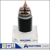 Solar system home 10kv 3 * 120 mm2 copper XLPE electrical power cable for hot sale