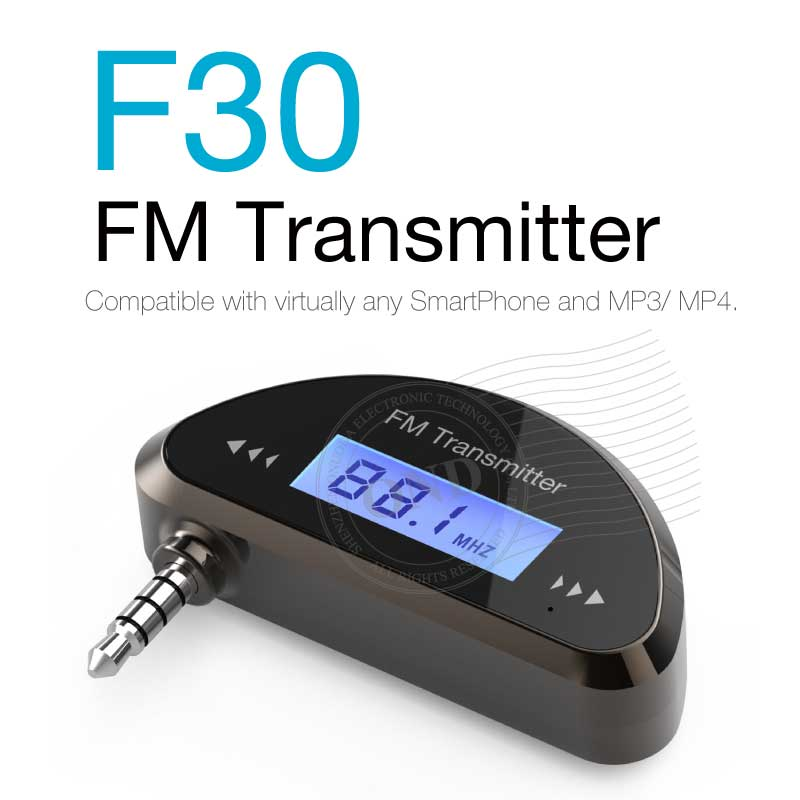 Hot Sale Universal Buitl-in Battery Car FM Transmitter for iPhone/Android/Window Phone/Tablet