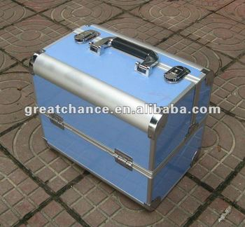 PROFESSIONAL ALUMINIUM BEAUTY COSMETIC MAKEUP CASE BOX