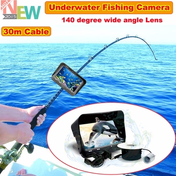"Night Vision Fish Finder 140 Wide Degree 30m 4.3"" LCD Monitor Underwater Ice/Sea Fishing Camera"