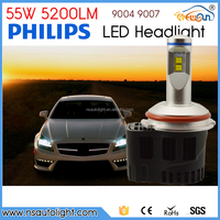 55w 5200lm 9004 9007 High Power LED Headlight Conversion Kit For Car