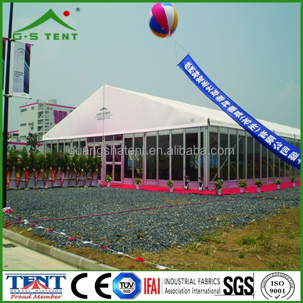 Glass solid wall frame structure marquee tent for exhibition