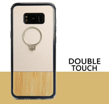 2017 New TPU wood phone case with metal ring buckle stand smartphone case cover for Samsung S8 plus