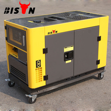 BISON(CHINA) 12kw 12kva Copper Wire Portable Silent Type High Capacity Diesel Engine Generator for Home