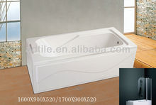 jetted tub shower combo 160/170x90x52cm
