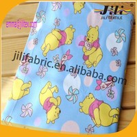 cotton cartoon printed flannel fabric designs for baby sheet, sleepwear