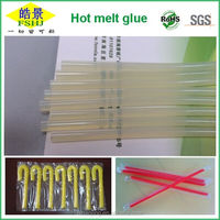 7MM Clear Hot Melt Glue Bar Strong Permeability Hot Melt Adhesive Stick For Straw Fixing