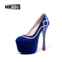 2017 new arrival genuine leather 15cm high platform fetish shoes extreme high heels women