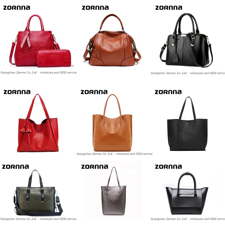 Large capacity Designer soft vegan PU fashion leather tote bag lady handbag