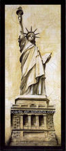 Framed Modern Statue of Liberty Painting on Canvas for office Decoration, famous building stretched canvas art