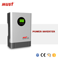 < MUST>High frequency 2KVA DC24V to AC230V pure sine wave power inverter for home solar system
