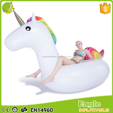 Pool party life-size water toys best selling unicorn inflatable,giant inflatable unicorn float animal pool float