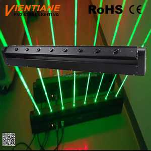 Hot selling Stage DJ 50mw x 8 pcs old housing body green big beam moving laser light