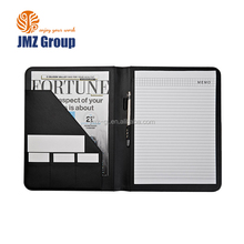 Hot selling black folder portfolio case with low price