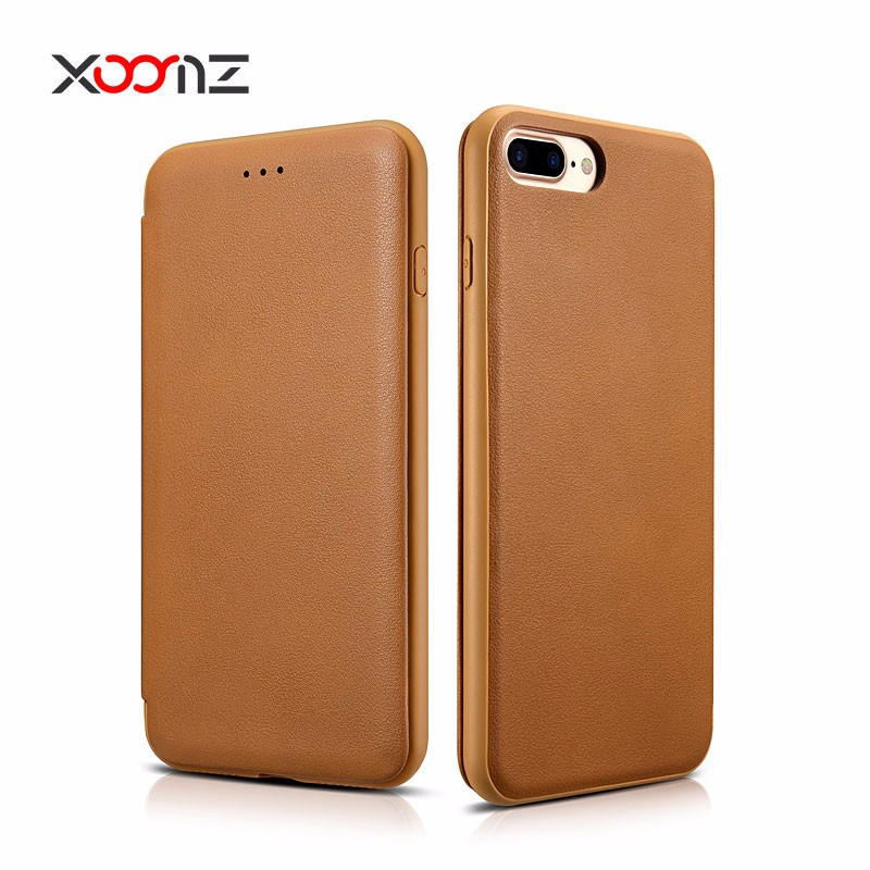 XOOMZ PU Leather Flip Cover for iPhone 7 Card Wallet Case