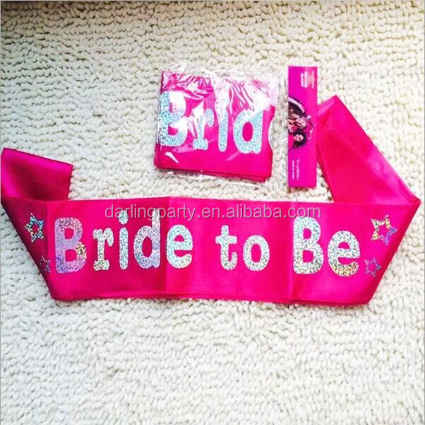 glittering Hen Night Party sash