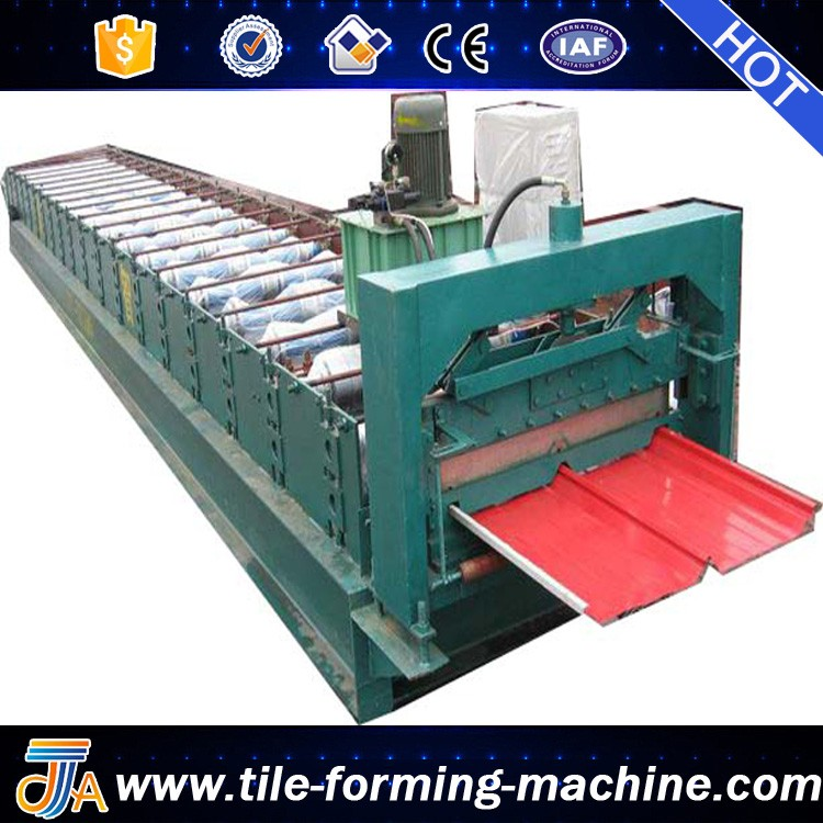 JCH Standing seam steel structure metal sheet roll forming machine roof tile making machine