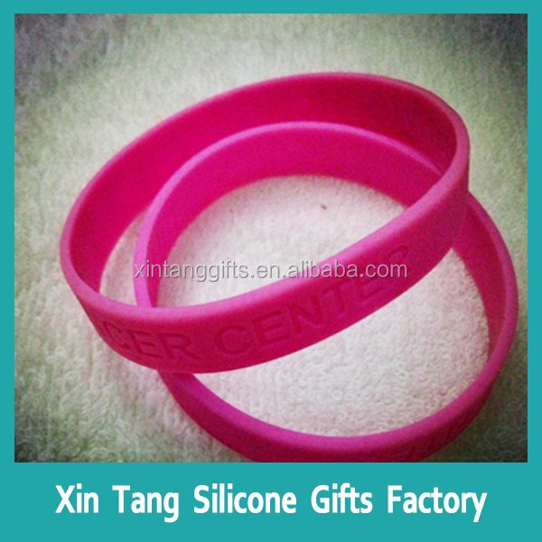 Factory produce custom bracelet/silicone wrist band/custom silicone band