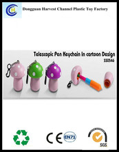 Customized logo cartoon plastic telescopic ballpens