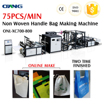 2014 new type of plastic carry bags making machine with handle attach