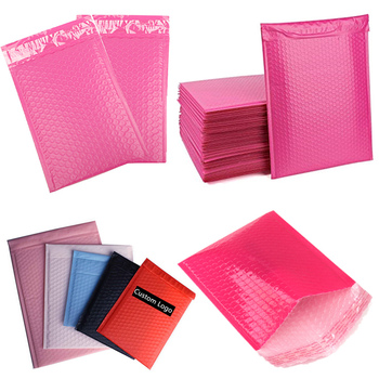 Wholesale Decorative Poly Bubble Mailers Pink,pink poly bubble envelopes