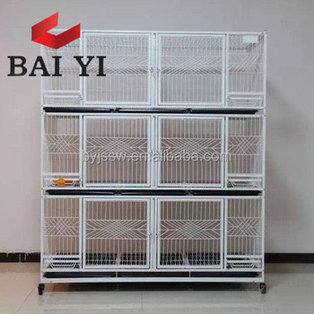 2018 China supplier 4 Level Large Indoor Cat Cage with 4 wheels