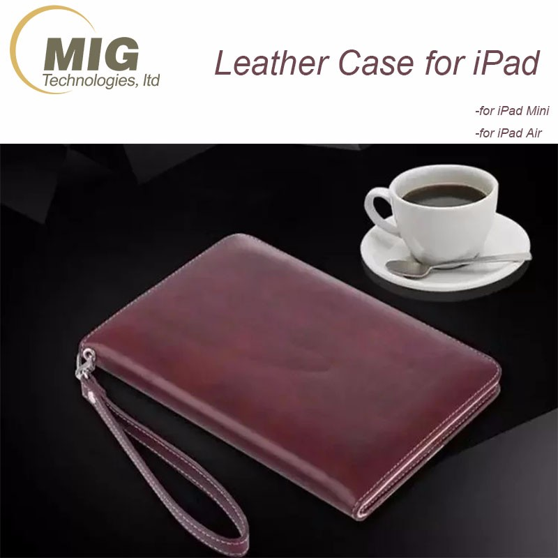 Flip Stand Case for Tablet PC Business Style Soft Leather 360 Degree Case Protect for iPad Mini for IPAD air
