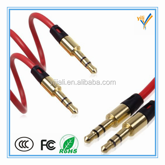 Premium 3.5mm audio video cable Lead Car Aux Cord For Stereo Headphone Headset