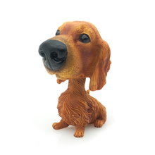 Custom pup Statues Shaking Head Car Decoration Dogs