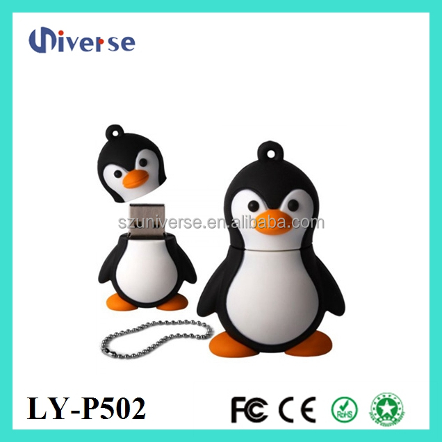 2015 china novelty penguin usb flash drive 1tb usb stick 500gb with metal key ring,PVC usb wholesale pen drive price