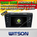 WITSON Android 5.1 DOUBLE DIN CAR DVD For MERCEDES-BENZ E CLASS WITH CHIPSET 1080P 16G ROM WIFI 3G INTERNET DVR SUPPORT
