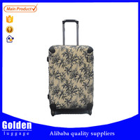Colorful PP trolley travel luggage suitcase carry-on durable hard shell unique luggage